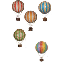 Authentic Models Hot air Balloon Floating The Skies  Rainbow 8,5 cm