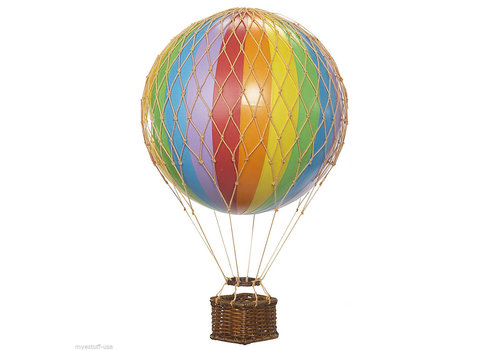 Authentic Models Authentic Models Hot air Balloon Floating The Skies Rainbow 8,5 cm