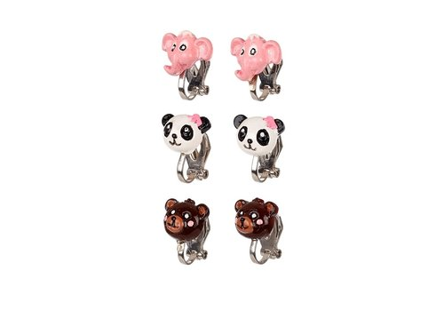 Souza! Souza! Ear Clips Animals Set of 3 pairs