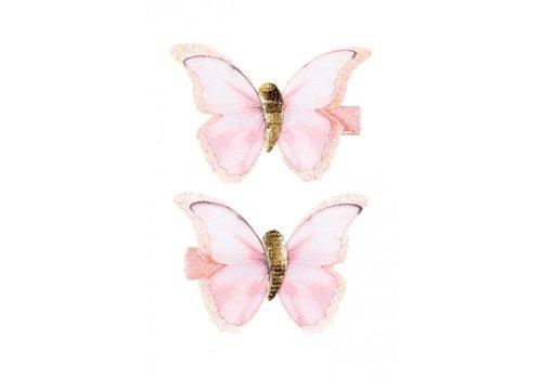 Souza! Souza! Hair Clips Louna Butterfly Salmon 2 pcs