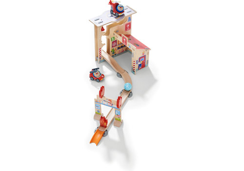 Haba Haba Kullerbü A Marble Track Play Track Fire Station