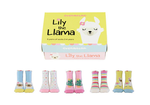 Odd Socks ODD Socks Lily the Lama Box with 5 Pairs of Socks 2 - 4 years
