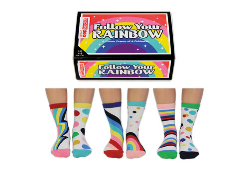 Odd Socks ODD Socks Dames Sokken Follow Your Rainbow 3 paar