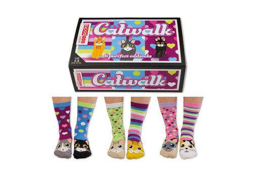 Odd Socks ODD Socks Lady Socks in a Box Catwalk 3 pairs