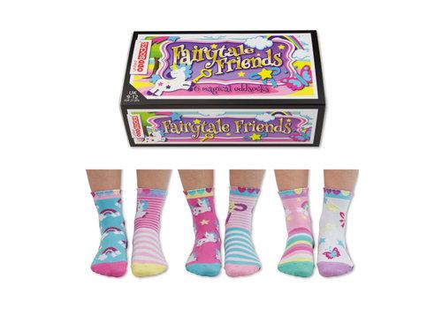 Odd Socks ODD Socks Fairytale Box met 3 paar Kindersokken maat 27-30
