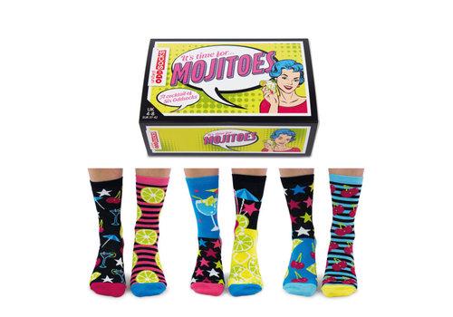 Odd Socks ODD Socks Lady Socks in a Box Mojitoes 3 pairs size 37-42