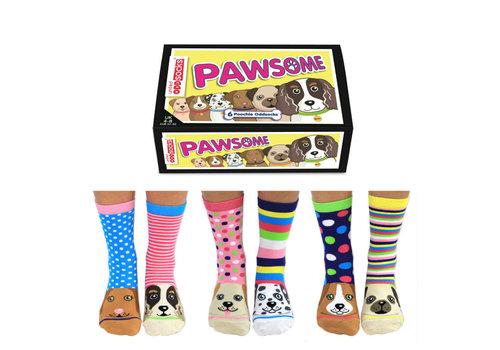 Odd Socks ODD Socks Lady Socks in a Box Pawsome 3 pairs size 37-42