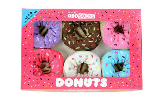 Odd Socks ODD Socks Dames Sokken Donuts in Box 3 paar maat 37-42