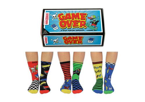 Odd Socks ODD Socks Game Over 6 in a Box  size 30 - 39