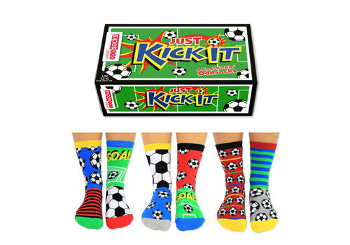 Odd Socks ODD Socks Kick It 6 in a Box  size 30 - 39