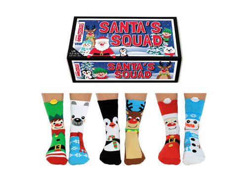 Odd Socks ODD Socks X-Mas Socks 6 in a Box  size 30 - 39