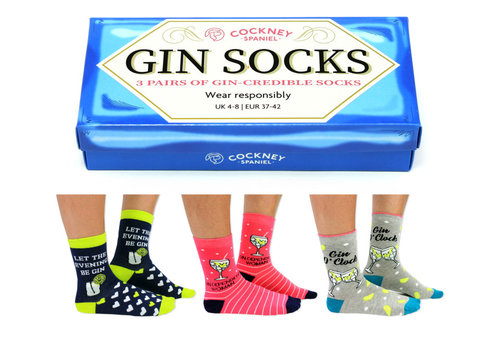 Odd Socks ODD Socks Dames Sokken Gin in Box 3 paar maat 37-42
