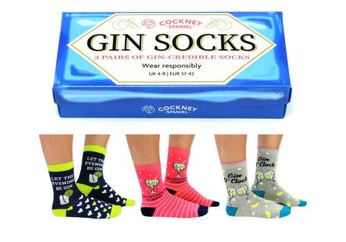 Odd Socks ODD Socks Lady Socks Gin in a Box 3 pairs size 37-42