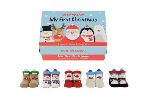 Odd Socks ODD Socks My FirstX-Mas Box with 5 Pairs of Childrens Socks 0 to 12 months