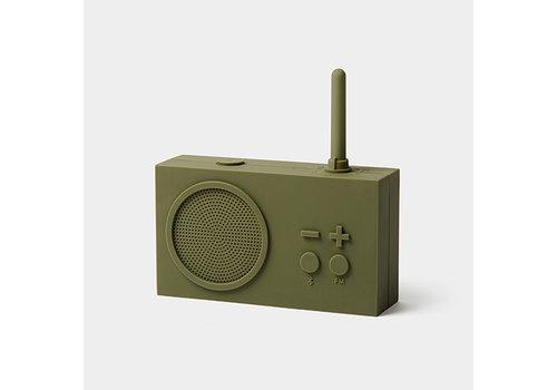 Lexon Lexon Tykho 3 Bluetooth Luidspreker en FM Radio Kaki Groen