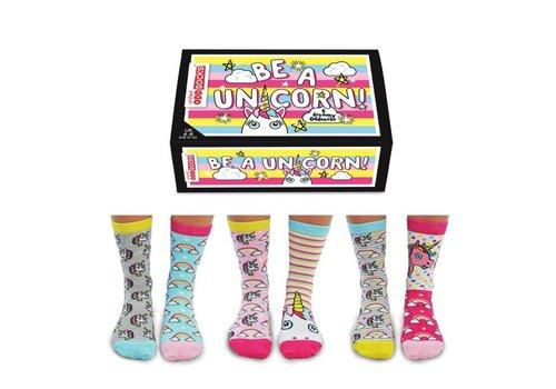 Odd Socks ODD Socks Lady Socks Unicorn Box 3 pairs size 37-42
