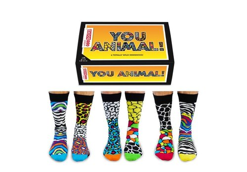 Odd Socks ODD Socks Men You Animal in Box 3 pairs size 39-46