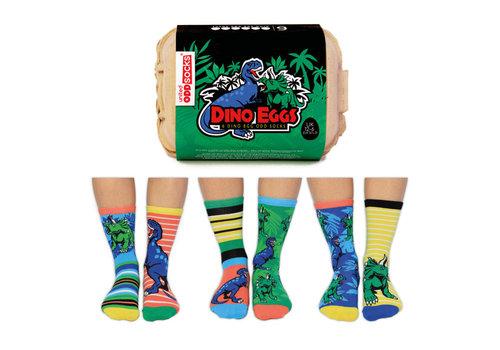 Odd Socks ODD Socks Dino Sokken in Eierdoos 3 paar maat 30 - 39