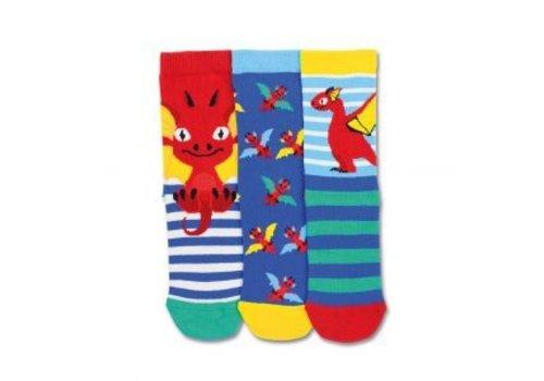 Odd Socks ODD Socks Draakjes Set met 3 Kindersokken maat 27-30