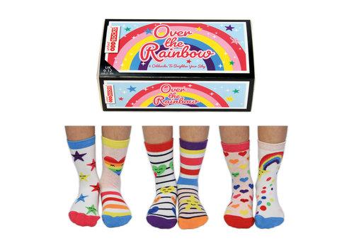 Odd Socks ODD Socks Over the Rainbow Set with 3 Socks size 27-30