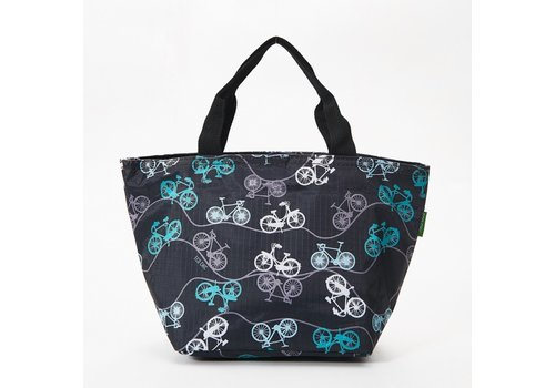 Eco Chic Eco Chic Lunch Bag Bicycles Black