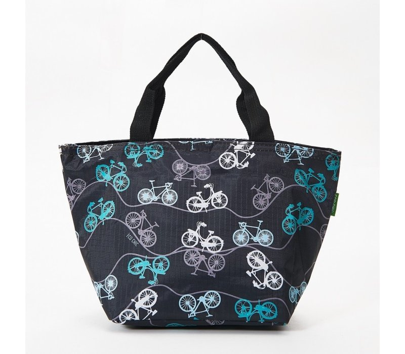 Eco Chic Lunch Bag Bicycles Black