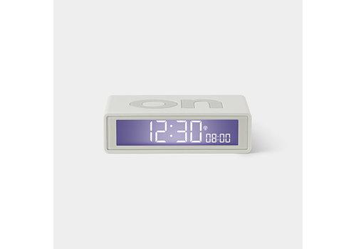 Lexon Lexon Flip Alarm Clock Rubber White