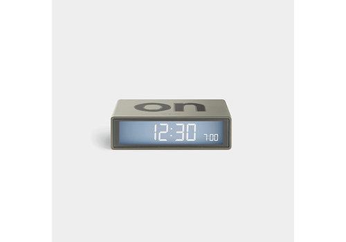 Lexon Lexon Flip Alarm Clock Travel Gun Metal