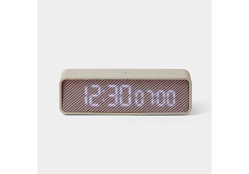 Lexon Lexon Oslo Time Alarm Clock Grey/Pink