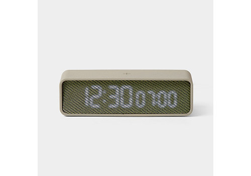 Lexon Lexon Oslo Time Alarm Clock Grey/Green