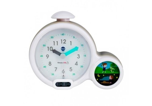 Claes Kid'Sleep My First Alarm Clock White-Grey