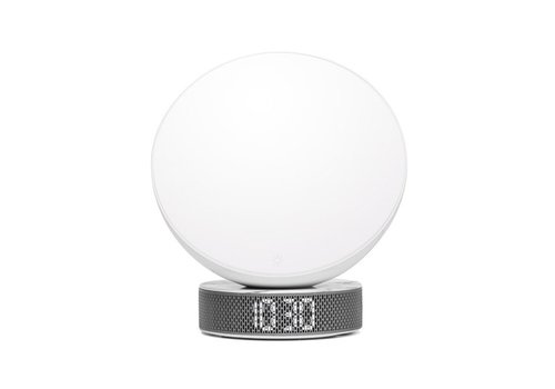 Lexon Lexon Miami Sunrise Clock & Light White/White Marble