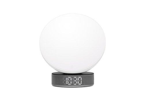 Lexon Lexon Miami Sunrise Clock & Light White/Black Marble