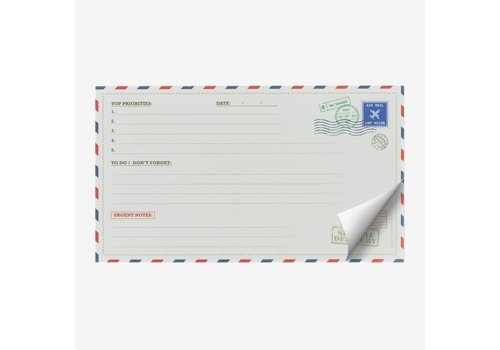 Legami Legami Paper Thoughts Air Mail Notepad