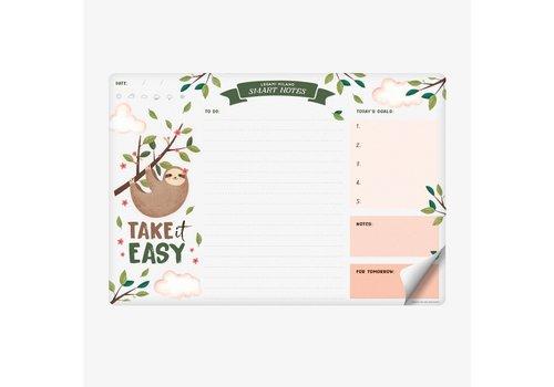 Legami Legami Smart Notes Luiaard Papieren Mousepad & Notablok