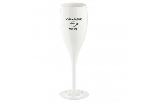 Koziol Koziol Superglas Cheers Champagne is Always the Answer 100 ml