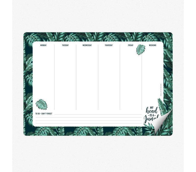 Legami Smart Notes Jungle Papieren Muismat & Notablok