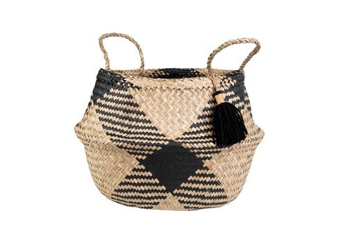 Sass & Belle Sass & Belle Black Tribal Tassel Basket
