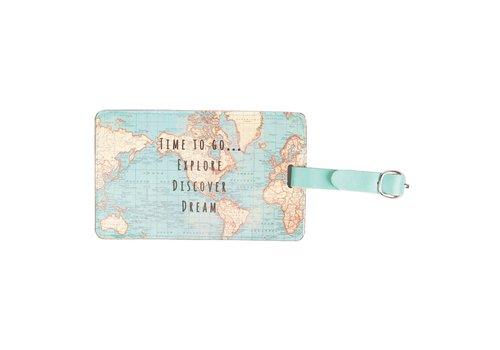 Sass & Belle Sass & Belle Vintage Map Bagage Label