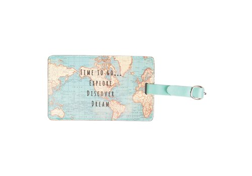 Sass & Belle Sass & Belle Vintage Map Luggage Tag