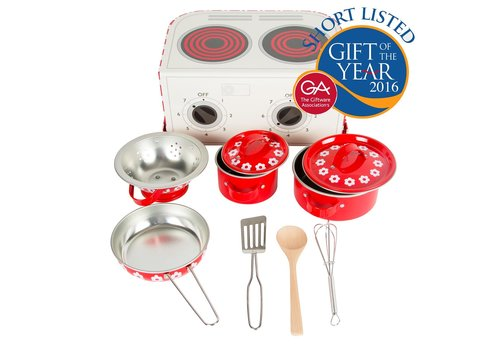 Sass & Belle Sass & Belle Red Daisies Play Cooking Set