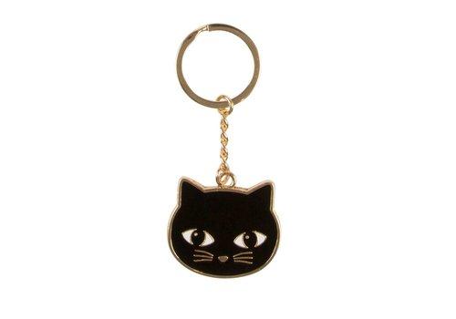 Sass & Belle Sass & Belle Black Cat Enamel Keyring