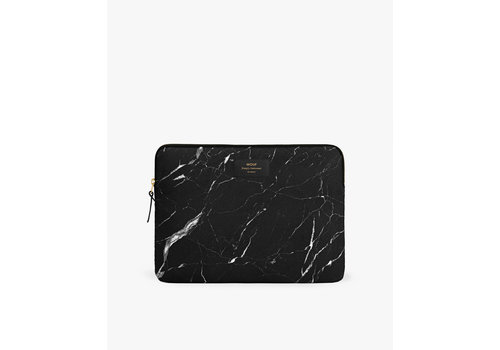 Wouf WOUF Black Marble Laptop Hoes 13""