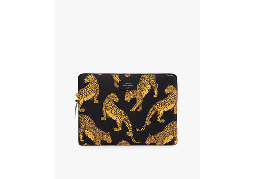 Wouf WOUF Black Leopard Laptop Sleeve 13""