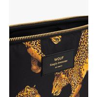 """WOUF Black Leopard Laptop Hoes 13"""""""
