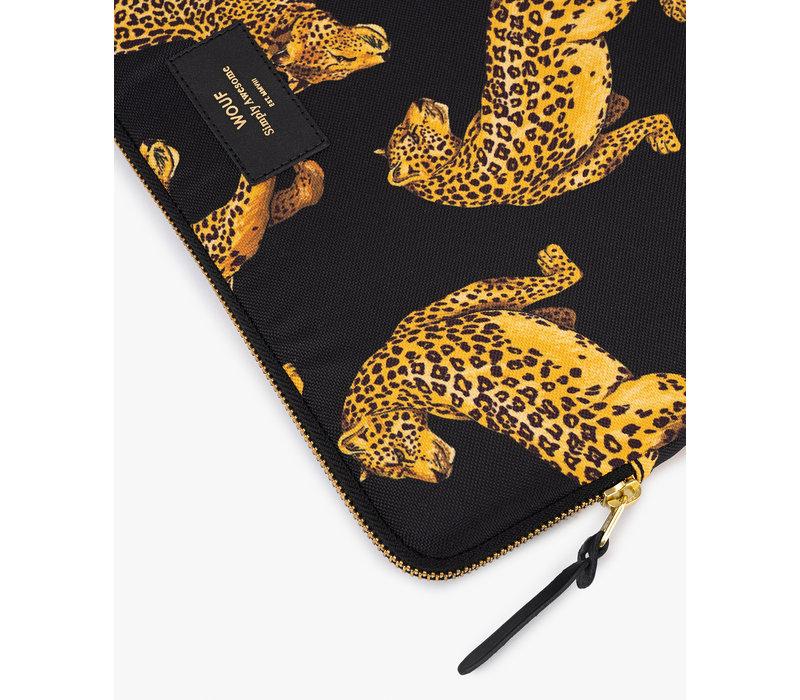 """WOUF Black Leopard Laptop Sleeve 13"""""""