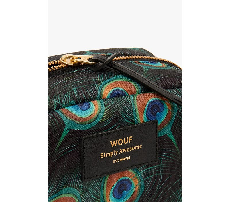 WOUF Peacock Big Beauty Toiletry Bag