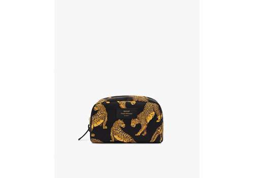 Wouf WOUF Black Leopard Big Beauty Toiletry Bag