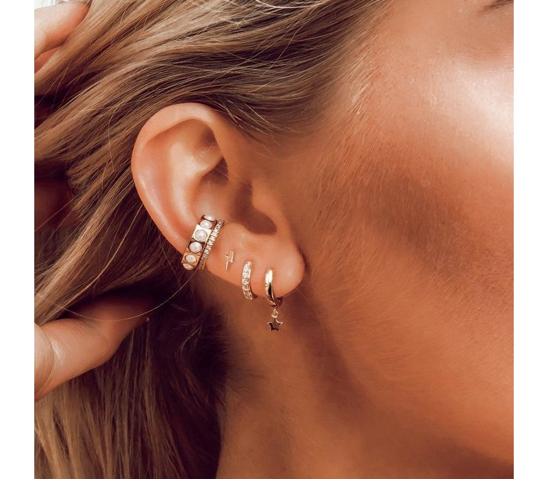 Orelia Fine Pave Single Ear Cuff