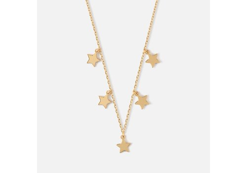 Orelia Orelia Halsketting Star Charm Multi Drop